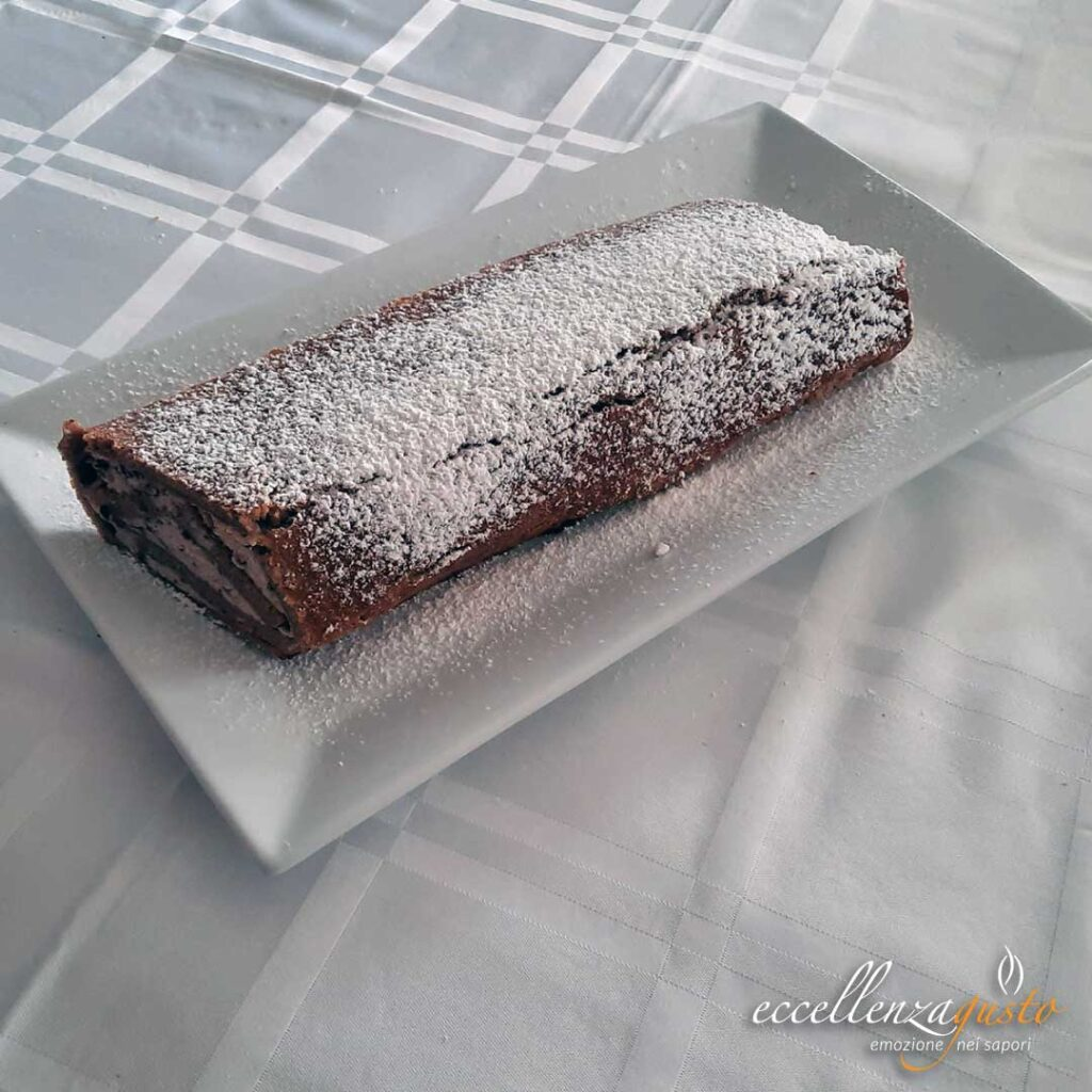rotolo con ricotta e cioccolato fondente eccellenzagusto