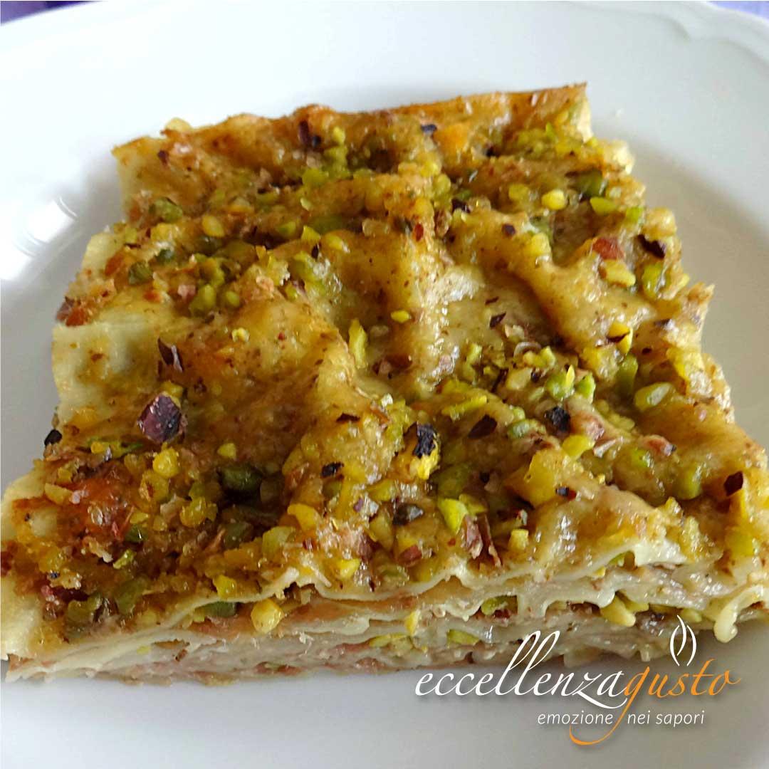 lasagne speck e pistacchio eccellenzagusto