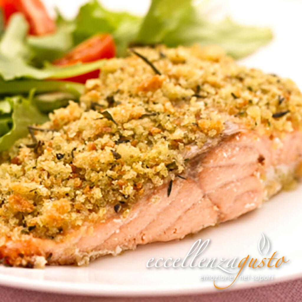 salmone gratinato al forno eccellenzagusto